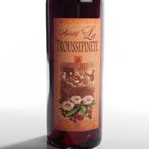 étiquette traditionnelle bouteille Troussepinette rouge
