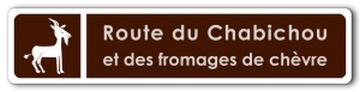panneau route du Chabichou et des fromages de chèvre