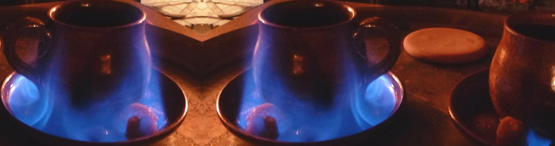 brûlots charentais et leurs flammes bleutées